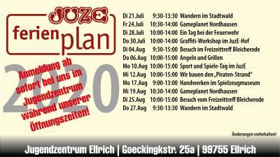 Vorschaubild zur Meldung: Jugendzentrum Ellrich - Ferien Sommer 2020