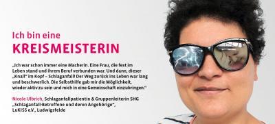 """Vorschaubild zur Meldung: Unsere SHG Schlaganfall / Nicole Ulbrich wurde als """"Kreismeisterin"""" geehrt und ihre Geschichte veröffentlicht"""