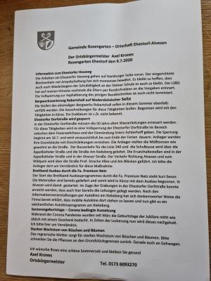 Vorschaubild zur Meldung: Ab 16. Juli - Sperrung Ehestorfer Dorfstr.