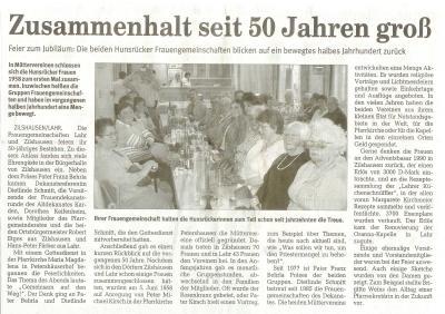 50 Jahre Frauengemeinschaften Zilshausen-Lahr