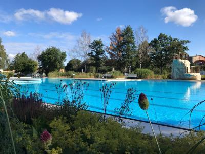 Im Schwimmerbecken des Freizeitbades Grasleben können Kinder ab dem 03. August kostenlos schwimmen lernen. (Bild: Samtgemeinde Grasleben)