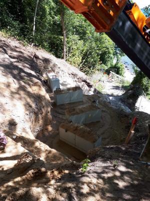 Vorschaubild zur Meldung: Baufortschritt an der Treppenanlage Karl-Liebknecht-Ring