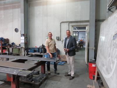 Bild der Meldung: Besuch bei Heckmann Stahl- und Metallbau