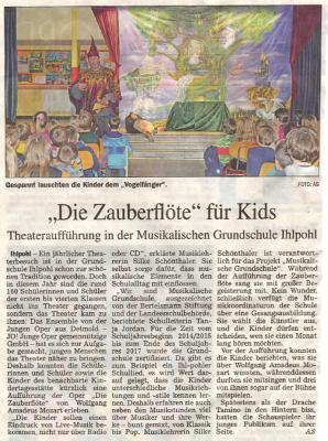 Foto zur Meldung: Zeitungsbericht