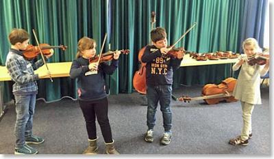 Foto zur Meldung: Musikwerkstatt der dritten Klassen