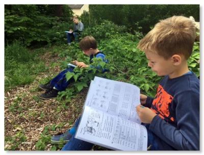 Foto zur Meldung: Mathe im grünen Klassenzimmer