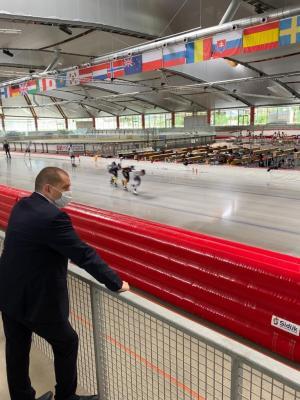 Matthias Große in der Max-Aicher-Arena in Inzell