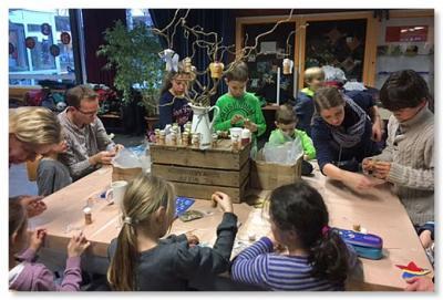 Foto zur Meldung: Adventsbasteln des Fördervereins