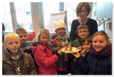 Foto zur Meldung: Nikolaus Überraschung für uns Lehrerinnen