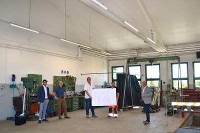 Foto zur Meldung: Bauhof nun mit hocheffizienter LED-Technik ausgestattet