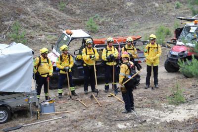 Foto zu Meldung: Feuerwehrübungen auf TÜP Lehnin