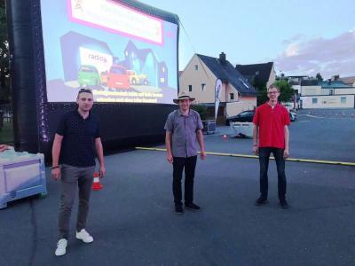 Bild von links: Die Organisatoren Philip Hohberger, Christian Reinisch und Jörg Vogel