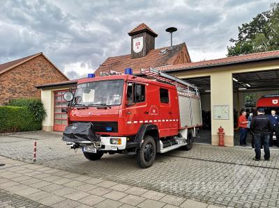 Die technische Ausstattung des alten LF 16 der Falkenhagener Ortswehr entspricht nicht mehr den Anforderungen. Foto: Beate Vogel