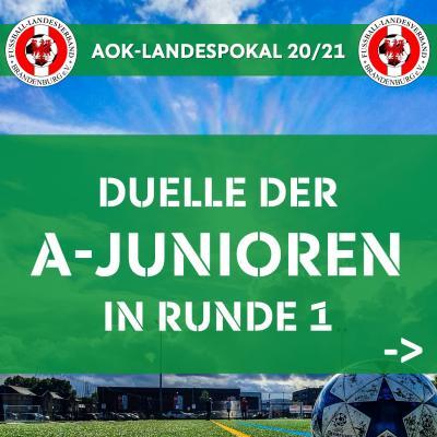 Vorschaubild zur Meldung: A-Junioren-Landespokal 20/21 ausgelost