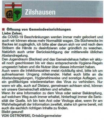 Neue Informationen vom Bürgermeister !