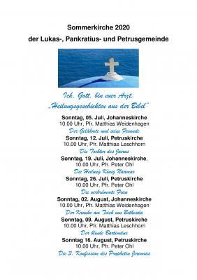 Programm Sommerkirche