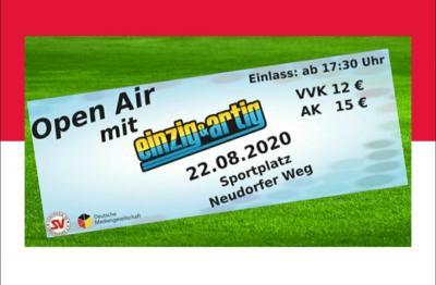 Foto zur Meldung: Open Air - Einzig & Artig - 22.08.2020 - Sportplatz Neudorfer Weg