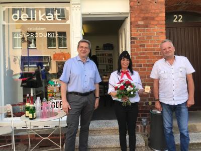 von links:  Dr. Oliver Hermann, Nicole Stübner und Ralf von Hagen I Foto: Martin Ferch
