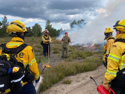 Foto zu Meldung: Internationaler Feuerwehrverband auf TÜP Lehnin