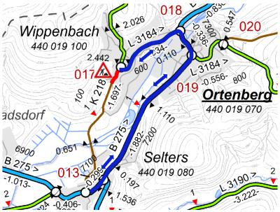 Foto zur Meldung: Straßenbauarbeiten an der K 218 in der Ortsdurchfahrt Ortenberg/ Wippenbach