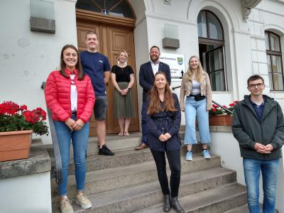 Vorschaubild zur Meldung: Fünf neue Auszubildende in der Stadt Kremmen