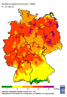 Vorschaubild zur Meldung: KFW - Trockendes Wetter sorgt für steigende Brandgefahr