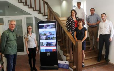 Foto zur Meldung: REGION: Digitalisierung startet im Seenland Oder-Spree - Erste digitale Touchpoints installiert
