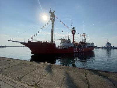 """Vorschaubild zur Meldung: Feuerschiff """"Elbe 1"""" zu Besuch in Sassnitz"""