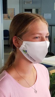 Foto zur Meldung: Mund-Nasen-Schutz jetzt auch mit Holzwickeder Logo verfügbar