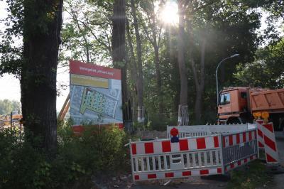 Erschließungsarbeiten neue Grundstücke im Wohngebiet