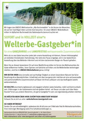 Vorschaubild zur Meldung: Stellenausschreibung bei dem Nationalpark-Zentrum Königsstuhl