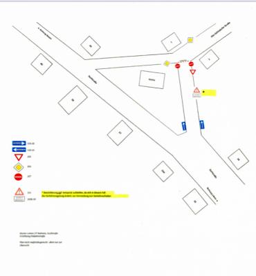 Foto zu Meldung: In Nahmitz und Lehnin verändern sich Straßenbeschilderungen