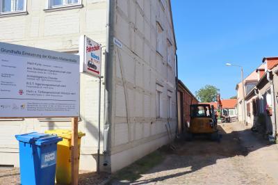 Vorschaubild zur Meldung: Die Bauarbeiten in der Klosterstraße und der Weberstraße schreiten gut voran