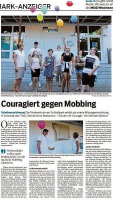"""Feierliche Übergabe des Titels """"Schule ohne Rassismus-Schule mit Courage"""