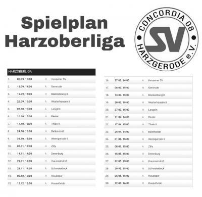 Foto zur Meldung: Spielplan Harzoberliga