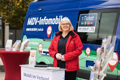 Das MDV-Infomobil zu Gast in Bad Dürrenberg