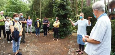 Foto zur Meldung: Unter hohen Bäumen: Bei Ingrid und Rolf Günther ist der Garten im Wald gewachsen