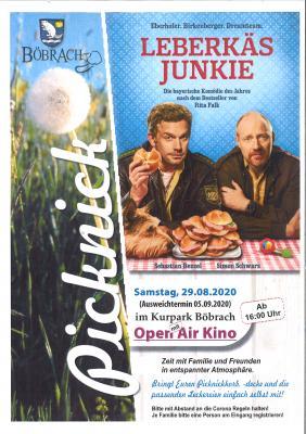 Plakat Picknick im Park mit Open Air Kino