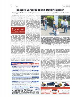 Bild der Meldung: Ein Artikel vom Friesländer Boten zum Projektabschluss mit der LEADER-Förderung