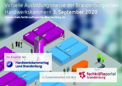 Vorschaubild zur Meldung: Virtuelle Ausbildungsmesse der Brandenburgischen  Handwerkskammern 3. September 2020