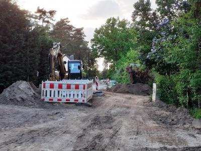 """Beginn des """"Sandpisten""""-Ausbaus am Reihersteg im Mai, © Gemeinde Rangsdorf - AL22"""