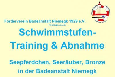 Vorschaubild zur Meldung: Schwimmstufen: Training und Abnahme