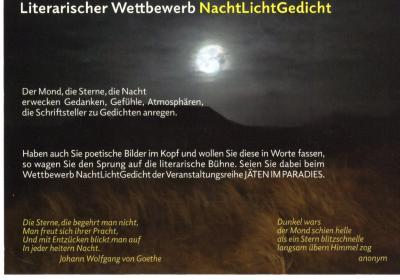 """Foto zur Meldung: Literarischer Wettbewerb """"NachtLichtGedicht"""""""