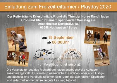 Playday 2020 flyer