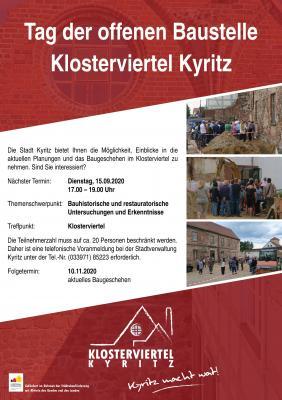 Tag der offenen Baustelle Klosterviertel am 15. September