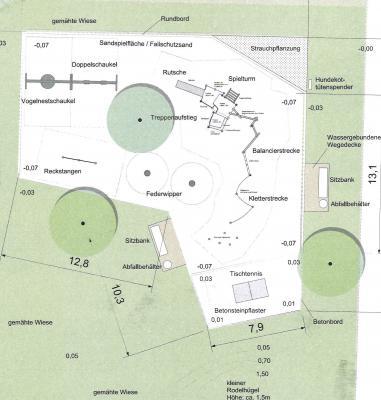 technischer Lageplan Spielplatz Amalienfelde