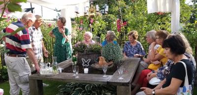 Foto zur Meldung: Rosenfreunde ganz in Familie: privates Treffen in Berlin und Potsdam