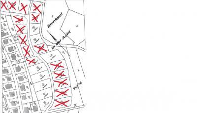 Diese Bauplätze sind schon alle weg im Neubaugebiet Dohr Stand 10.09.2021