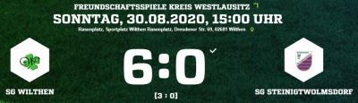 [SGW 1] Letztes Vorbereitungsspiel SG Wilthen- Steinigtwolmsdorf 6:0 (3:0)