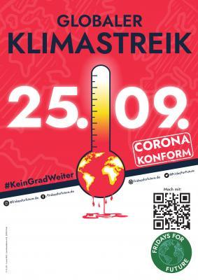 Foto zur Meldung: Globaler Klimastreik am 25.09.2020 #KeinGradWeiter